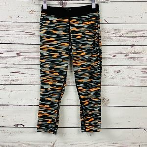 NIKE Dri-Fit Printed Relay Crop Running Tights XS